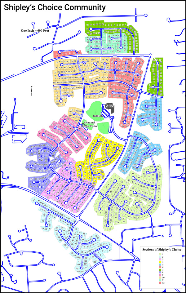 Shipley's Choice Community Section Map