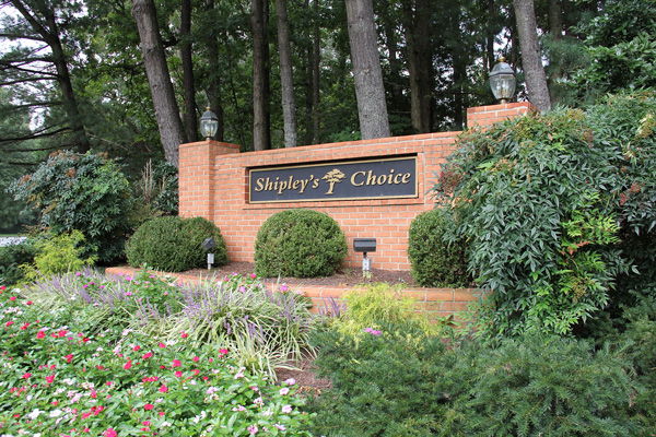 Shipley's Choice Community Sign
